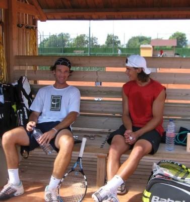 Carlos Moya and Rafa Nadal